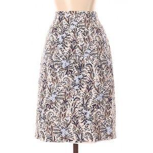 Ann Taylor Botanical Print Skirt